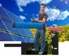 Solar-Waschanlage