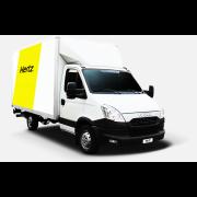 Hertz Iveco Lieferwagen mit Hebebühne